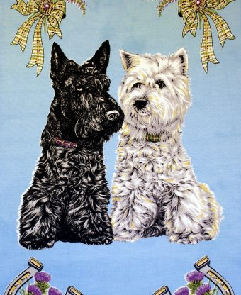 Scottie Dogs - Tea Towels-0