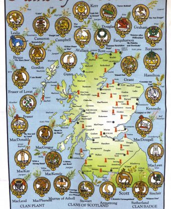 Clans of Scotland - Tea Towel-0
