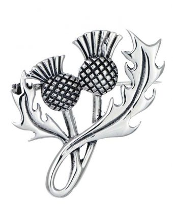 Thistle Brooch - Pewter-0