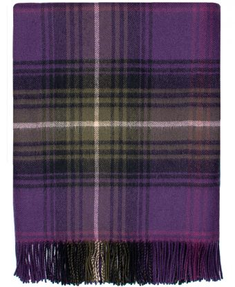 Heather Tartan Lambswool Blanket-0